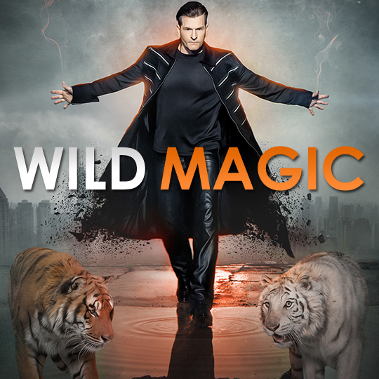 Greg Frewin - Wild Magic promotional graphic with tigers